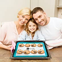 "Special Price Today Non-Stick Silicone Baking Mat | 1 x 16 5/8"" x 11"" + FREE 1 x 9"" Round = 2 Mats 