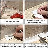 Caulk Strip,2 Pack Self Adhesive Sealing Tape