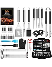 BBQ Grill Accessories BBQ Tools Set, AISITIN 35 PCS BBQ Grilling Accessories, Stainless Steel Grill Tools Set for Smoker, Camping, Kitchen, Fathers Day Birthday Gift Barbecue Grill Accessories for Men