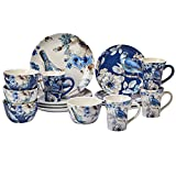 Certified International 89116 Indigold 16 pc. Dinnerware Set, Service for 4, Multicolored For Sale