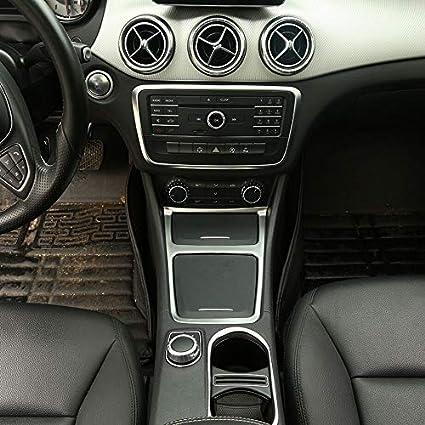 ABS Chrome LLKUANG Storage Box Ashtray Frame Trim for Mercedes Benz CLA GLA Class W117 C117 2013-17