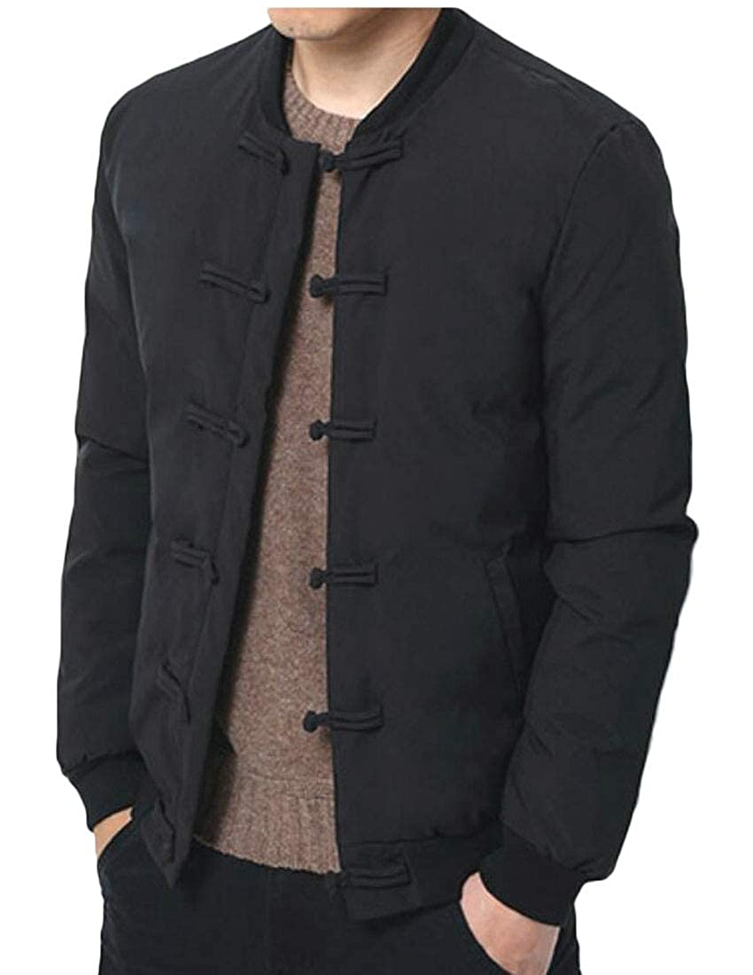 XiaoTianXinMen XTX Mens Button Down Chinese Style Baseball Packable Qulited Down Coat Jacket