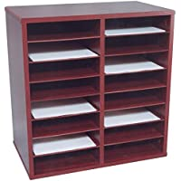 Norsons Industries 16 Compartment Laminate Literature Organizer, 20.5 by 21 by 12-Inch, Medium Oak