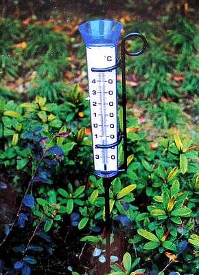 Großer Regenmesser Mit Garten Thermometer Und Halterung Amazonde