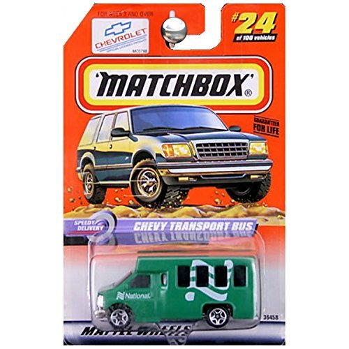 Matchbox Speedy Delivery Chevy Transport National Rental Car Airport Shuttle Bus Green #24