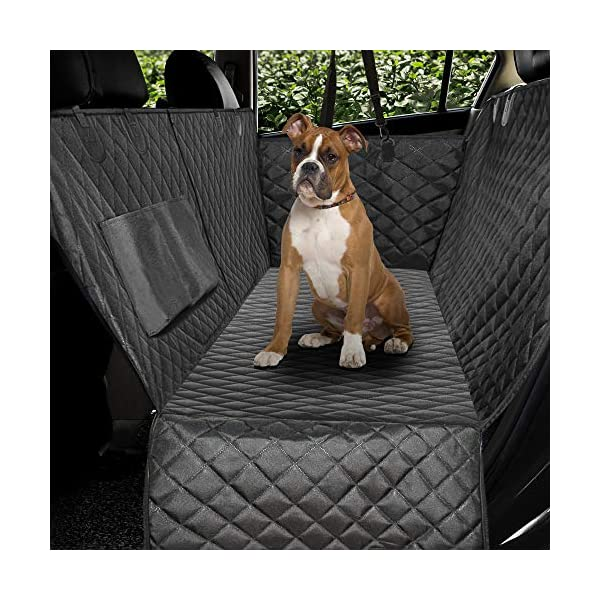 Honest-Luxury-Quilted-Dog-Car-Seat-Covers-with-Side-Flap-Pet-Backseat-Cover-for-Cars-Trucks-and-Suvs-Waterproof-Nonslip-Diamond-Pattern-Dog-Seat-CoverDoor-Protector