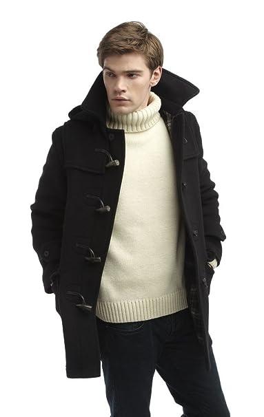 check out 0444d b7389 Original Montgomery Mens London Luxury Duffle Coat Toggle Coat