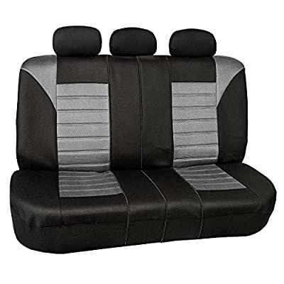 FH Group FH-FB068013 Premium 3D Air Mesh Split Bench Seat Cover - Fit Most Car, Truck, SUV, or Van