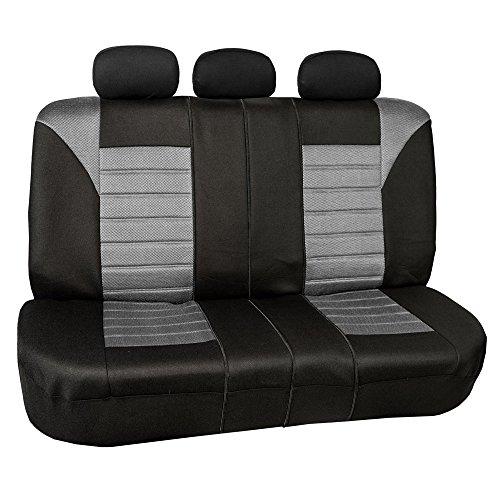 [해외]FH GROUP FH-FB068013 프리미엄 3D 에어 메쉬 스플릿 벤치 시트 커버 - 대부분의 자동차, 트럭, Suv 또는 밴에 적합/FH GROUP FH-FB068013 Premium 3D Air Mesh Split Bench Seat Cover - Fit Most Car, Truck, Suv, or Van