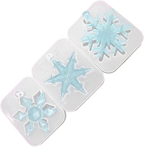 3D Snowflake Silicone Pendant Mold Making Jewelry Resin Casting Molds DIY Craft/_