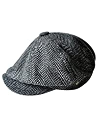 MINAKOLIFE Mens Vintage Style 'Shelby' Cloth Cap Hat Twill Cabbie Hat Newsboy