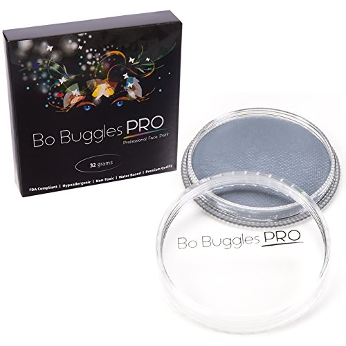 Bo Buggles Professional Gray 32g Face Paint, Classic Colors, Water Activated