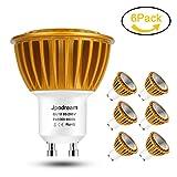GU10 LED Bulbs, 7Watt COB LED Light Bulbs 6000K (Daylight), 70W Halogen Bulbs Equivalent, 600lm, 120V, 60° Beam Angle LED Spot Light for Tracking Light, Recessed Light by Jpodream - 6 Pack of Units