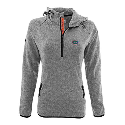Levelwear LEY9R NCAA Florida Gators Women's Faint Insignia Bold Quarter Zip Mid-Layer Shirt, Medium, Heather Pebble
