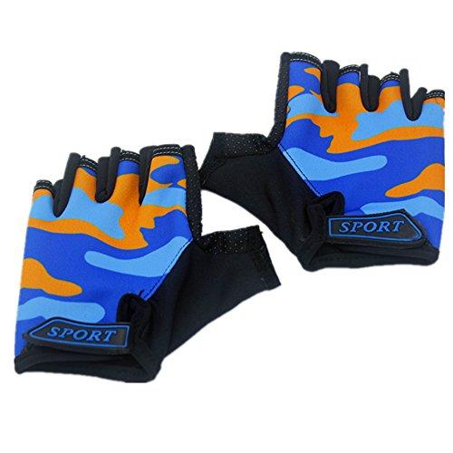 Summer Bike Half Short Cycling Finger Gloves Orange - 4
