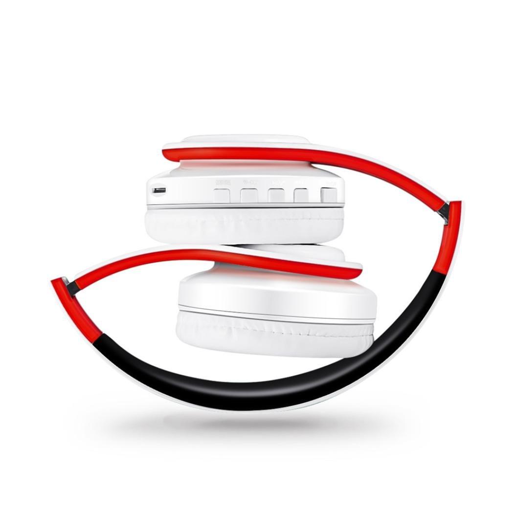 inal/ámbrico de conexi/ón de cable,Reproducci/ón de la tarjeta TF,Las manos ale STRIR Bluetooth para auriculares est/éreo V4.0 M/úsica plegable Over-oreja sonido de alta fidelidad Calling construido en Mircophone manos libres
