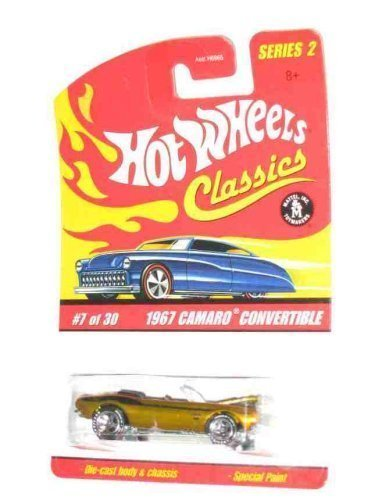 Classics Series 2 #7 1967 Camaro Convertible Spectraflame Gold  1:64 Scale Collectible Die Cast Collector Car Mattel Hot Wheels