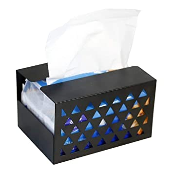Kaige Adornos de escritorio Adornos de hierro tejido caja cuarto cigarrillo toalla caja vida salón coche 15 * 11 * 9 cm: Amazon.es: Hogar