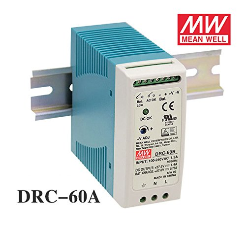 MEAN WELL DRC-60A 60W 12~15V AC/DC meanwell din rail security Power Supply with Battery charger(UPS function) DRC-60