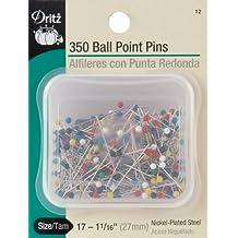 Dritz 350-Piece Ball Point Pins, 1-1/16-Inch