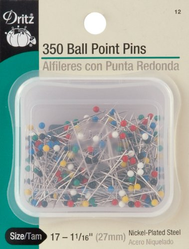 Dritz 12 Ball Point Pins, 1-1/16-Inch (350-Count)