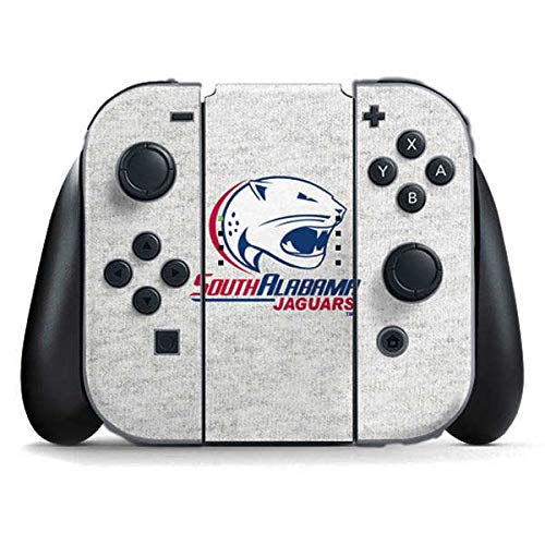 Skinit South Alabama Jaguars Heather Grey Nintendo Switch Joy Con Controller Skin - Officially Licensed Learfield Collegiate Gaming Decal - Ultra Thin, Lightweight Vinyl Decal Protection