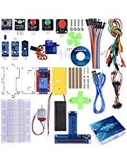 STARTO Kit para BBC Micro: bit Starter Kit con SG90 Servo, Tarjeta de expansión, módulo fotosensible con relé de Sensor, Jumper Wires Cables de Puente con Tutorial Gratuito TX01