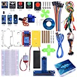 STARTO Starter Kit for BBC Micro:bit, Basic Coding Kit Includes Sensor, Expansion Board, Servo, Relay, Acrylic Protective case and Free Tutorial for Microbit Beginners and Kids to Learn Electronics