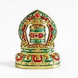 Liugw Metal Tibetan Solar Prayer Wheel Quality Buddhist Prayer scriptures Ornamen