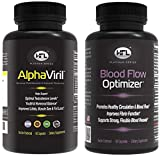 AlphaViril & Blood Flow Optimizer by Dr Sam Robbins - Helps Improve Blood Flow, Circulation, Natural Testosterone Booster, Increases Libido, Sex Drive, Strength, Energy, Memory, Focus, Stamina.