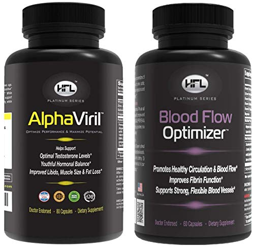 AlphaViril Blood Flow Optimizer by Dr Sam Robbins – Helps Improve Blood Flow, Circulation, Natural Testosterone Booster, Increases Libido, Sex Drive, Strength, Energy, Memory, Focus, Stamina.