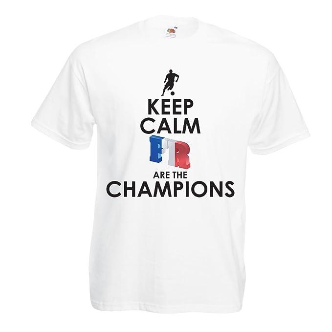 Camisetas Hombre Los franceses Son los campeones: Campeonato de Rusia 2018, Equipo de Fútbol de la Copa del Mundo, Camiseta de la Afición de Francia: ...