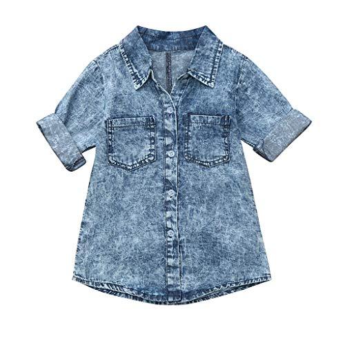 Verano Manga Blusas 12 vestido Vestido Fiesta Bebé Niña Paolian Larga Vaquero Azul Años 5 Princesa Para 2019 Meses Primavera HYqxRA