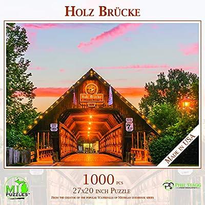 Holz Brucke (Frankenmuth Wooden Bridge) - 1,000 Piece MI Puzzles Jigsaw Puzzle: Toys & Games