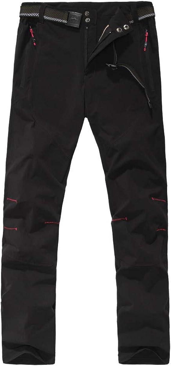 HAINES Pantalones de Monta/ña Mujer Invierno Pantalon Softshell Impermeable Pantal/ón da Senderismo y Trekking