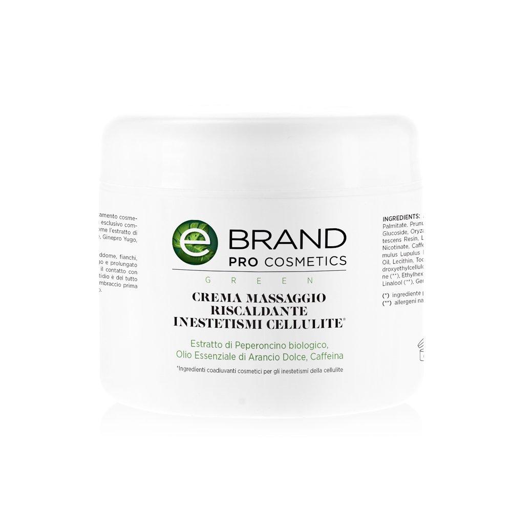 Crema Massaggio Riscaldante - Ebrand Green 500 ml