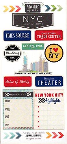New York City Adventure Cardstock Scrapbook Stickers (61010) (York New Scrapbooking)
