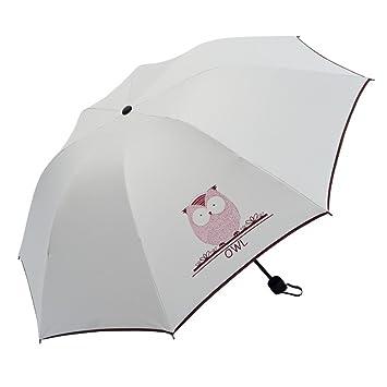 LJSHU Sombrilla con Tres Pliegues Paraguas De Protección Solar ...
