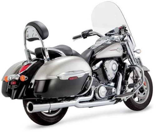 Vance & Hines 2 Into 1 Pro Pipe Exhaust Chrome - Pipe Hines Pro