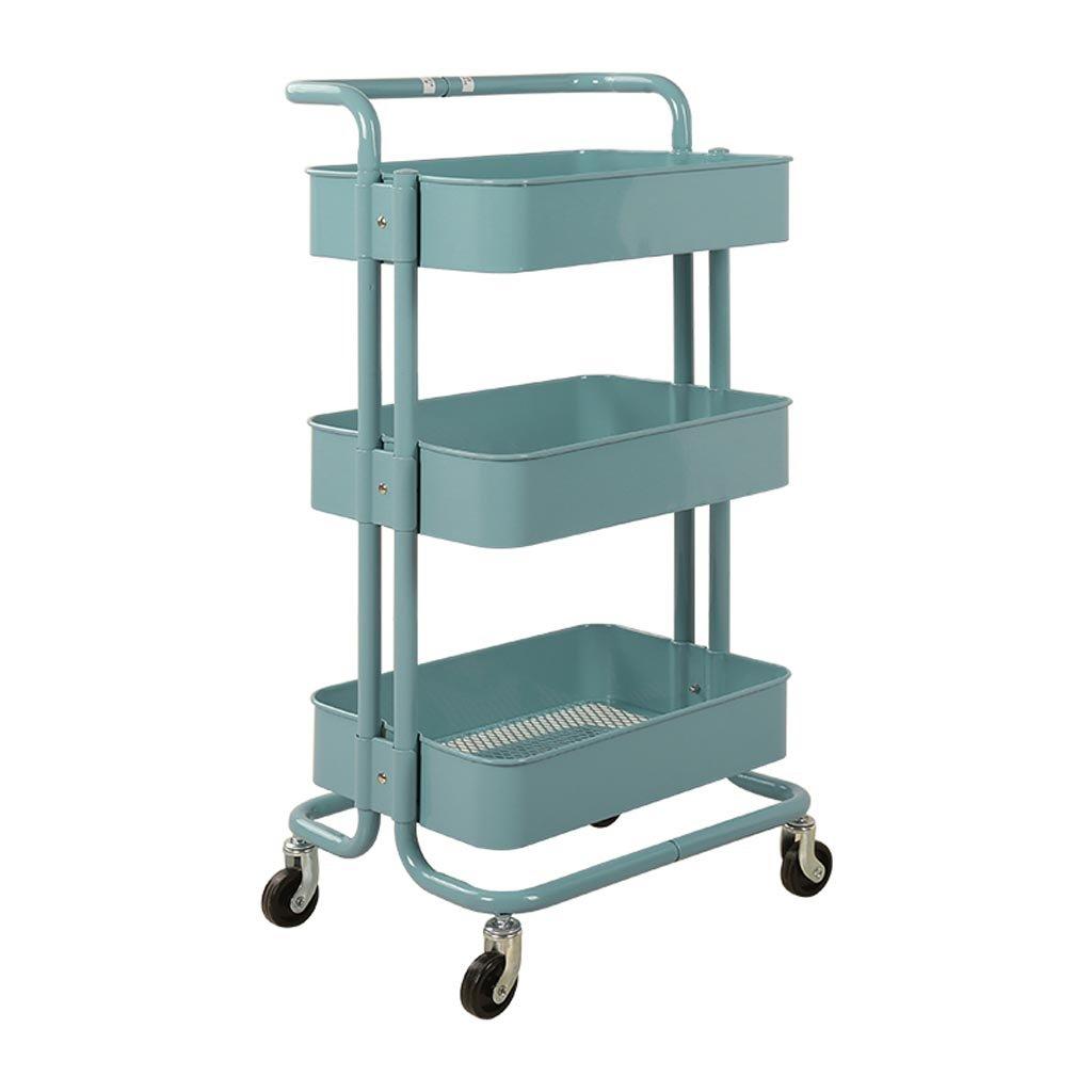 E 453587cm JU FU Cart Storage Rack Trolley - Beauty Equipment Cart Beauty Salon Trolley Barber Shop Rack Hairdressing Tool Cart @@ (color   B, Size   45  35  87cm)
