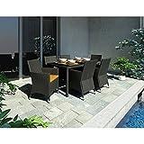 Sonax Z-506-TPP Park 7-Piece Terrace Black Weave Patio Dining Set (Discontinued by Manufacturer)