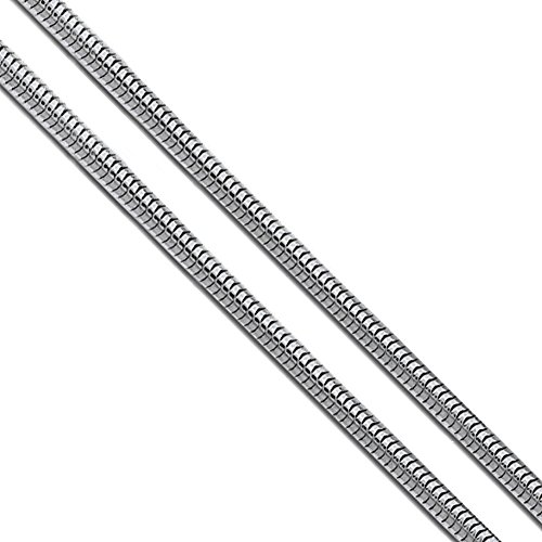 Stainless Steel Snake Chain 2.4mm New Solid Flexible Round Necklace 30