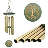 "Wind Chimes Outdoor Deep Tone,36""Large Memorial Windchimes Amazing Grace with 5 Tuned Metal Tubes,Sympathy Wind Chimes Gifts for Garden Home Yard Hanging Decor,Tree of Life"