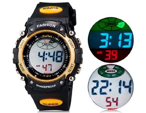ITaiTek 812 Rondas deportivas reloj digital de plástico con correa, Semana Pantalla y (Amarillo) M. Alarm Clock: Amazon.es: Relojes