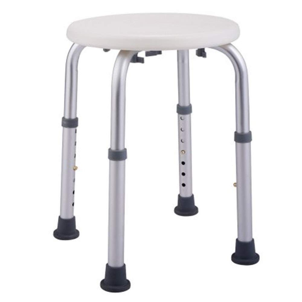 Shower Stool Round 7 Height Adjustable Medical Shower Stool Chair Bath Tub Seat White New Handicap Shower Seats for Adults