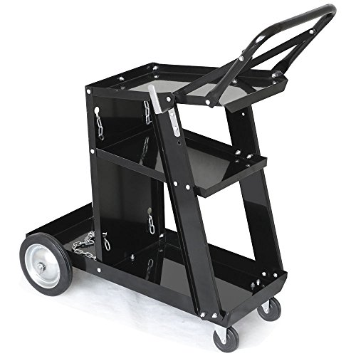 Z ZTDM Professional Welding Cart Plasma Cutting Machine Trolley Welder Plasma Arc Cutting Equipment w/ Universal Storage