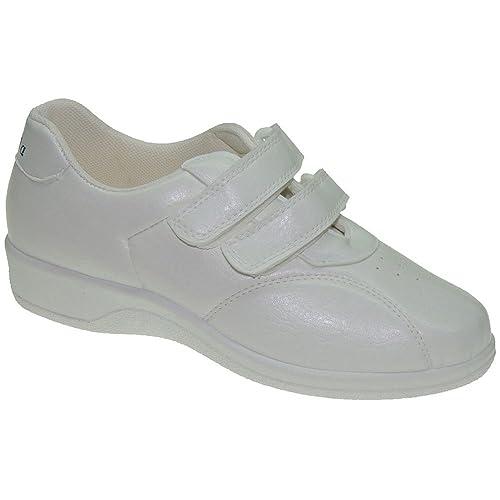 PERCLA 427 Zapatilla Deportiva Cuña Aerobic y Velcros para Mujer: Amazon.es: Zapatos y complementos