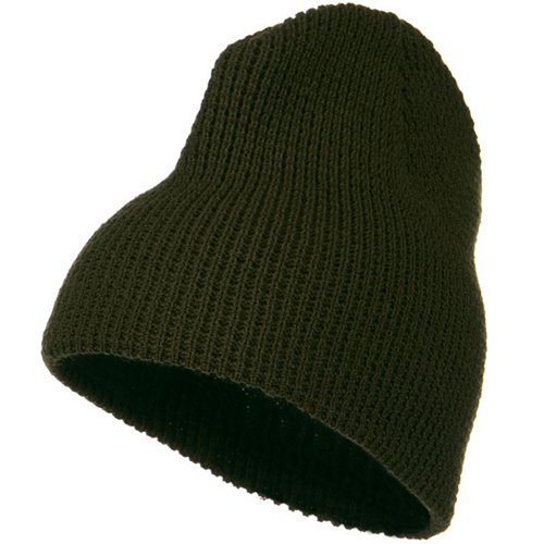 Artex Big Stretch Waffle Stitch Short Beanie - Olive