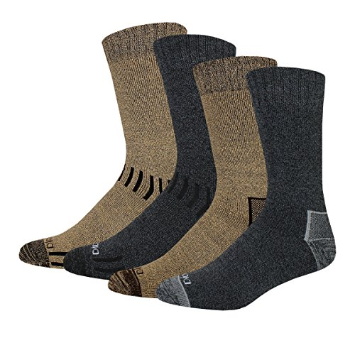 Dickies Men's All Season Marled Moisture Control Crew Socks,