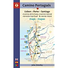 Camino Portugues Maps: Lisbon - Porto - Santiago / Camino Central, Camino de la Costa, Variente Espiritual & Senda Litoral